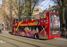 Bezienswaardigheden bezoekend Amsterdam Stock Foto