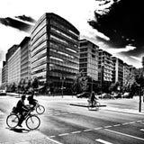 Bezienswaardigheden bezoekend Berlijn Artistiek kijk in zwart-wit Stock Fotografie