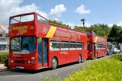 Bezienswaardigheden bezoekend bus Paphos - Cyprus Stock Foto
