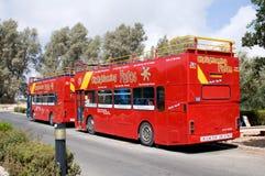 Bezienswaardigheden bezoekend bus Paphos - Cyprus Royalty-vrije Stock Afbeelding