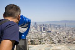 Bezienswaardigheden bezoekend San Francisco Stock Foto