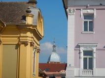 Bezienswaardigheden bezoekend in Timisoara, Roemenië royalty-vrije stock foto's