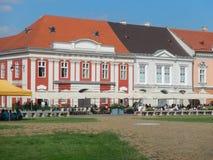 Bezienswaardigheden bezoekend in Timisoara, Roemenië royalty-vrije stock fotografie