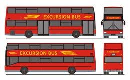 Bezienswaardigheden bezoekende Excursiebus Royalty-vrije Stock Foto