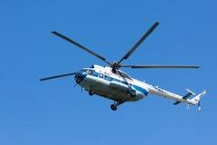 Bezienswaardigheden bezoekende helikopter Stock Foto