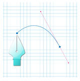 Bezier curve Royalty Free Stock Image