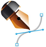 Bezier pen Stock Photo
