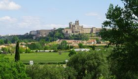 Beziers cathedral Royalty Free Stock Photography