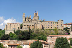 Beziers cathedral Royalty Free Stock Photos