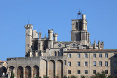 Beziers Cathedral, France Royalty Free Stock Photos