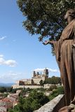 Beziers Cathedral France. Taken in Beziers, in southern France in the Languedoc region. Shows The Saint Nazaire Ancient Cathedral view taken from the church of Royalty Free Stock Photography