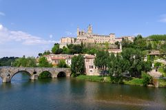 Beziers city in south of France Stock Image
