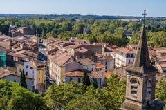 Beziers Cityscape, Frankrike arkivfoton