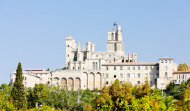 Beziers, France. Saint-Nazaire cathedral, Beziers, Languedoc-Roussillon, France Stock Photo
