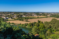 Beziers Landscape, France Stock Photography