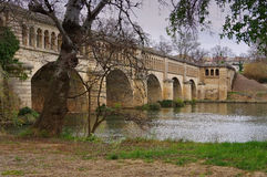 Beziers, The Orb Aqueduct Royalty Free Stock Images