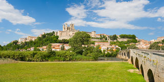 Beziers. Panorama of Beziers in a spring day Stock Photo