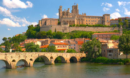 Beziers at a spring day Stock Photos