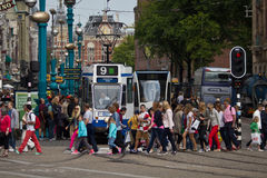 Bezig Amsterdam Royalty-vrije Stock Foto