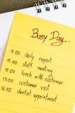 Bezig dagplan Stock Afbeeldingen