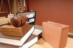 Bezig ogenblik in een rechtszaal Royalty-vrije Stock Afbeeldingen