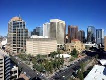 Bezig Phoenix de stad in, AZ stock foto's