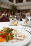 Bezig restaurant Stock Foto's