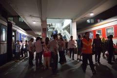 Bezig Station Stock Afbeeldingen