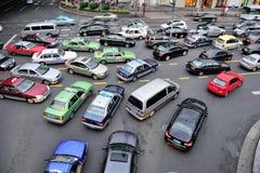 Bezig verkeer in Shanghai Stock Foto
