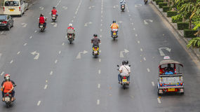 Bezig verkeer in stad Stock Afbeelding