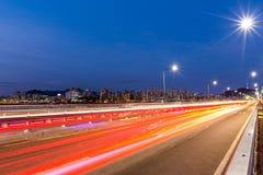 Bezig verkeer in stad Royalty-vrije Stock Afbeelding