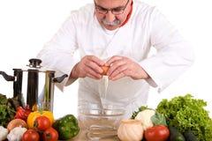 Bezige chef-kok royalty-vrije stock fotografie