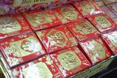 Bezige Chinatown ter voorbereiding van Chinees Nieuwjaar Stock Afbeelding