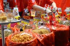 Bezige Chinatown ter voorbereiding van Chinees Nieuwjaar Royalty-vrije Stock Fotografie