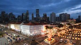 Bezige Chinatownstraat bij Chinees Nieuwjaar stock videobeelden
