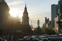 Bezige dag in Santiago Stock Foto