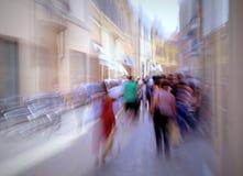 Bezige Europese straat Royalty-vrije Stock Foto's
