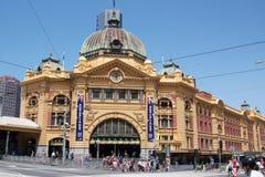 Bezige Flinders-Straatpost Stock Afbeelding