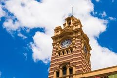 Bezige Flinders-Straatpost Stock Foto