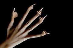 Bezige handen. Stock Afbeelding