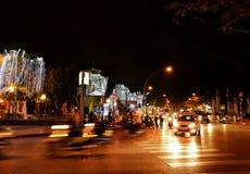 Bezige kruising in Hanoi, Vietnam royalty-vrije stock afbeeldingen
