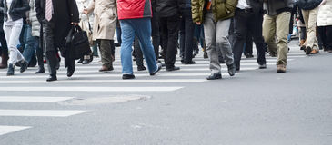 Bezige lopende mensen Stock Foto