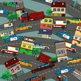 Bezige stad Royalty-vrije Stock Afbeelding
