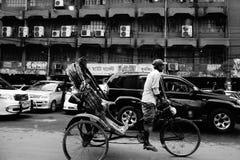 Bezige stad Dhaka in Bangladesh royalty-vrije stock afbeeldingen
