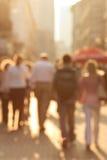 Bezige straat stock afbeeldingen