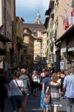 Bezige Straat in Florence stock foto's