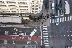 Bezige straat in Japan Stock Foto's