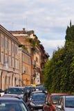 Bezige straat in Rome Royalty-vrije Stock Foto