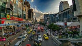 Bezige straten van Bangkok Stock Foto