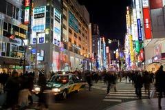 Bezige straten van Shinjuku, Tokyo Royalty-vrije Stock Fotografie